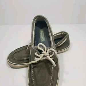 Sperry Top-Sider Men's Canvas Boat Shoes Size 10.5
